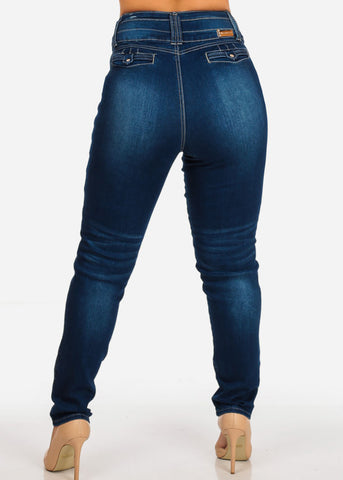 Plus Size Butt Lifting Rise Skinny Jeans