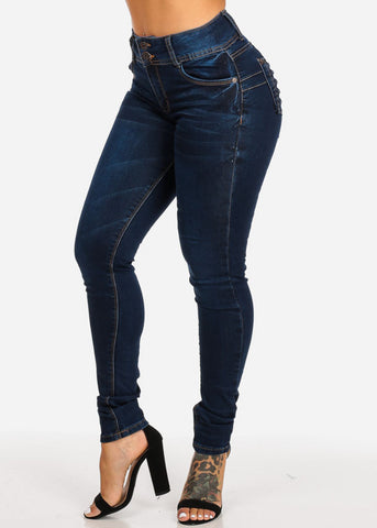 Image of High Rise Levanta Cola  Skinny Jeans