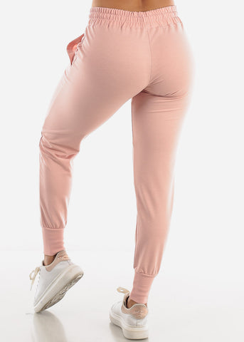 Image of High Rise Pink Joggers