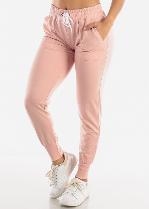 High Rise Pink Joggers