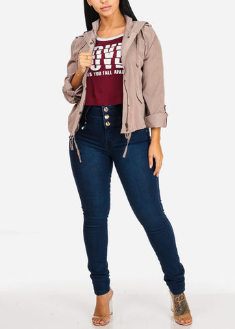 Image of High Waisted Levanta Cola Dark Skinny Jeans
