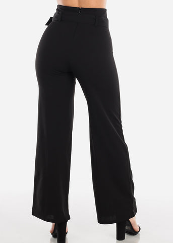 Image of High Waisted Elegant Black Pants