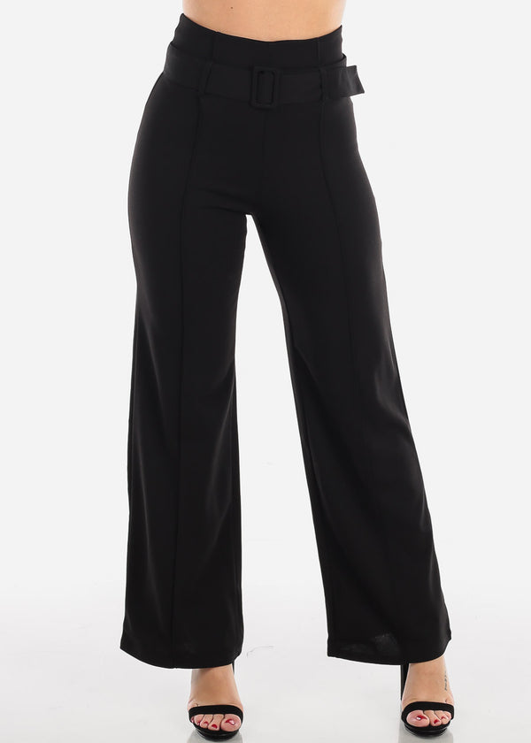 High Waisted Elegant Black Pants