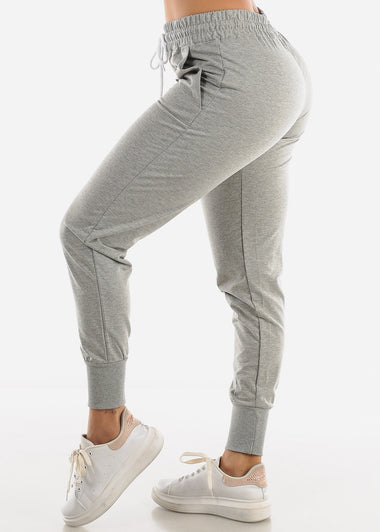 High Rise Grey Joggers