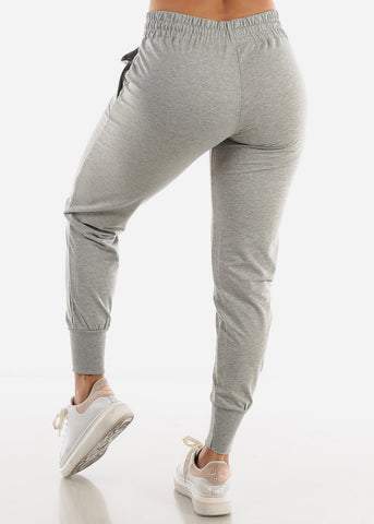 Image of High Rise Grey Joggers