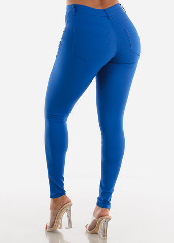 Image of High Waisted Royal Blue Jegging Skinny Pants
