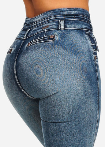 Image of Butt Lifting High Waisted Straight Leg Jeans