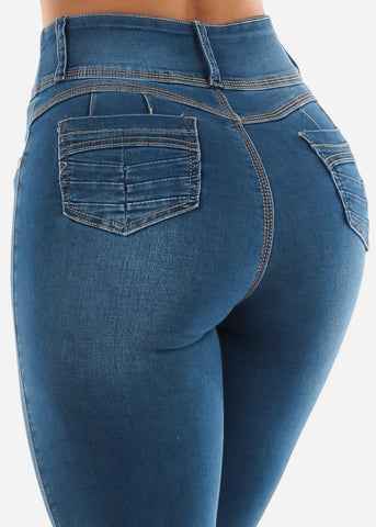 Image of Med Blue Sexy High Waist Jeans
