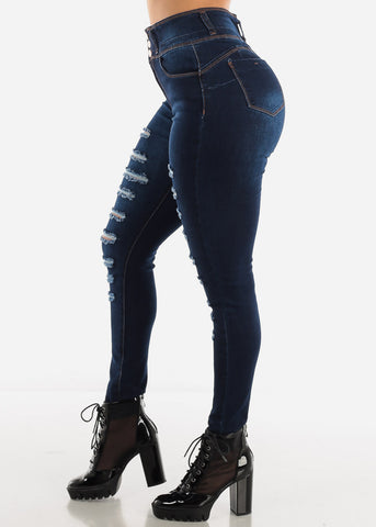 Image of Dark High Rise Butt Lift Jeans