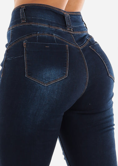 Dark High Rise Butt Lift Jeans