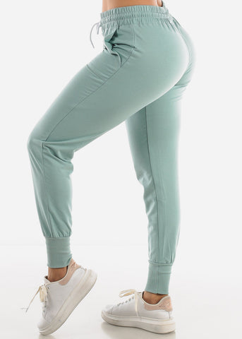 Image of High Rise Mint Joggers
