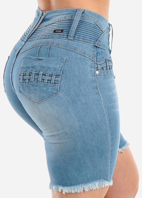 Beautiful Sexy Push Up High Waist Drawstring Ripped Jeans For Women Cute Female Highwaist Butt Lift Elastic Distressed Jeans Denim Pants Jeans Bottoms