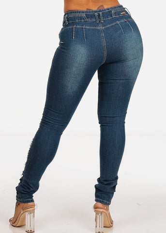 Image of Butt Lift Ripped High Waisted Skinny  Jeans