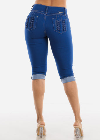 Image of Levanta Cola Blue Denim Capris