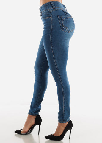 Image of Medium Wash Butt Lifting Jeans
