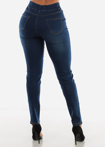 Image of Dark Blue Strechy Jeans