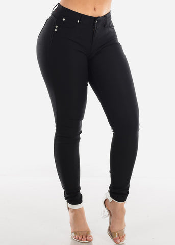 Sexy Butt Lifting Levanta Cola Low Rise Super Jegging Skinny Pants
