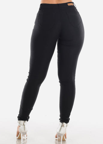 Butt Lifting Black Jegging Skinny Pants
