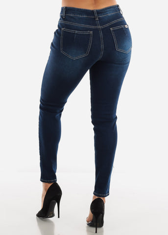 Image of High Waist Navy Jeans
