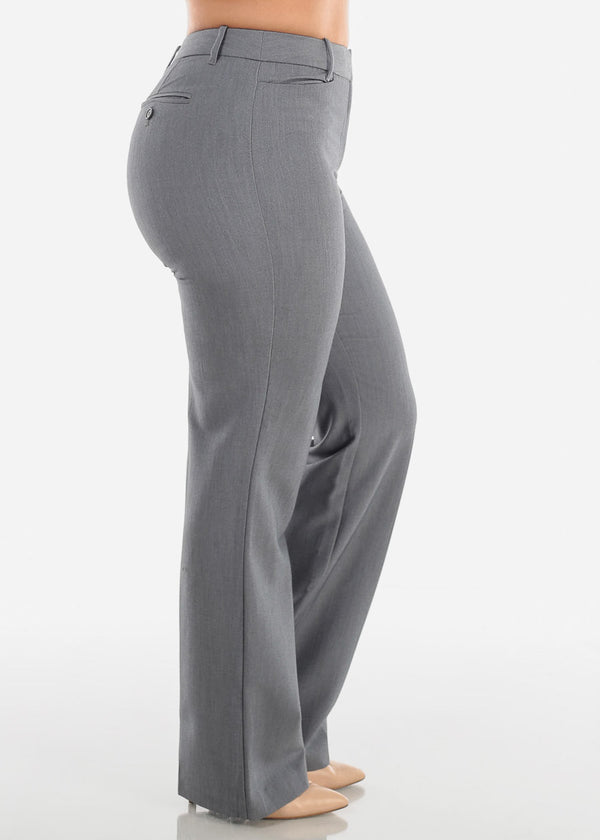 Petite Grey Dress Pants