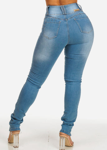 Ultra High Rise Butt Lifting Cut Out Skinny Jeans
