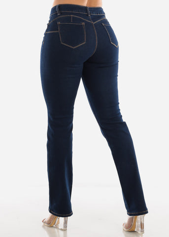 Image of Straight Leg Butt Lift Jeans