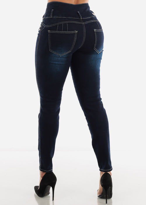 Dark Navy Butt Lifting Jeans