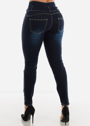 Image of Dark Navy Butt Lifting Jeans
