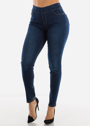 Stretchy Dark Blue Jeggings