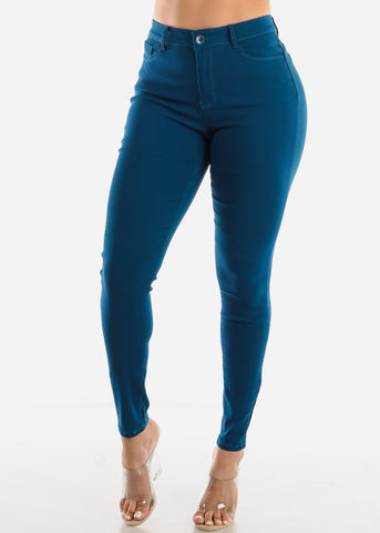High Rise Butt Lift Teal Pants