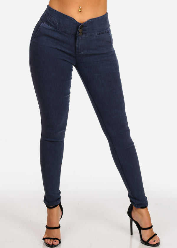 Dark Blue High Rise Jegging Pants