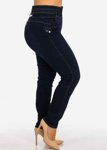 Image of Plus Size High Rise Butt Lifting Skinny Jeans