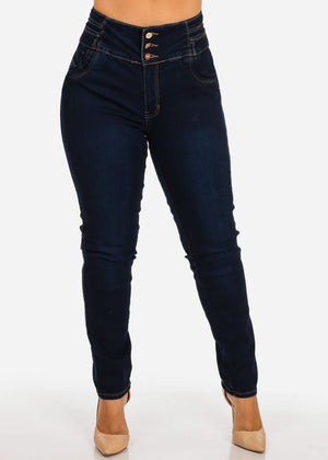 Plus Size High Rise Butt Lifting Skinny Jeans