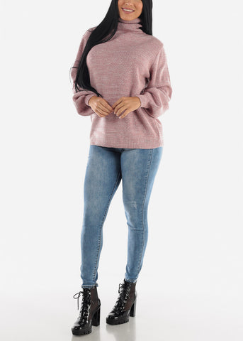 Image of High Waisted Med Wash Skinny Jeans