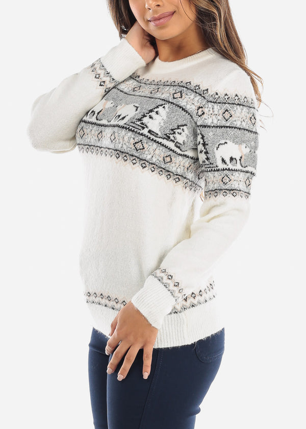 White Polar Bear Sweater