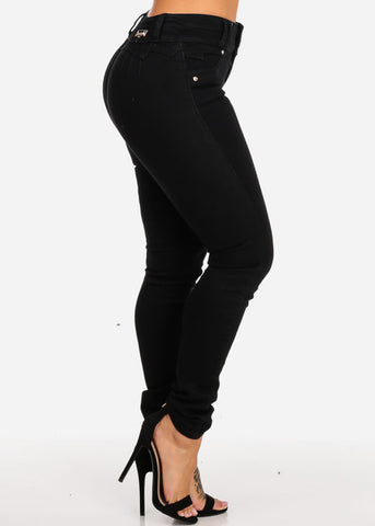 Basic Butt Lifting High Waisted Skinny Jeans