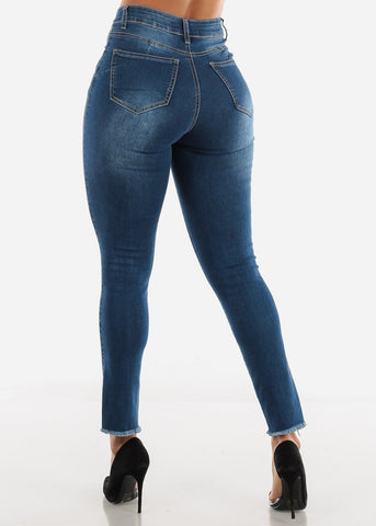 Distressed Butt Lifting Navy Jeans