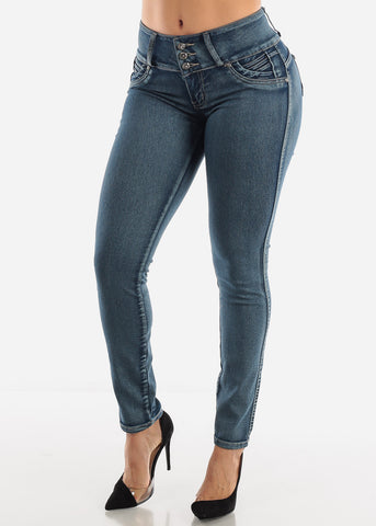 Image of Acid Wash Butt Lifting Jeans