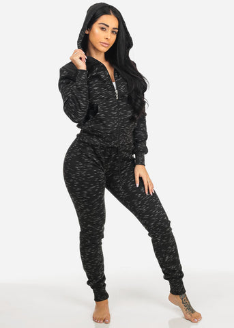 Graphic Fleece Sweater W Hoodie (2PCE SET)