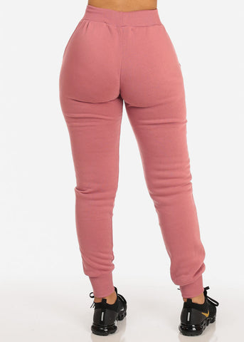 Image of High Rise Pink Jogger Pants
