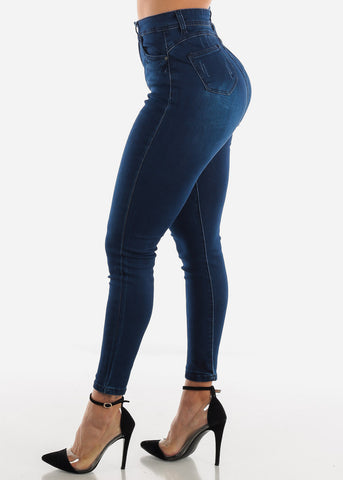 Levanta Cola Dark Navy Wash Skinny Jeans