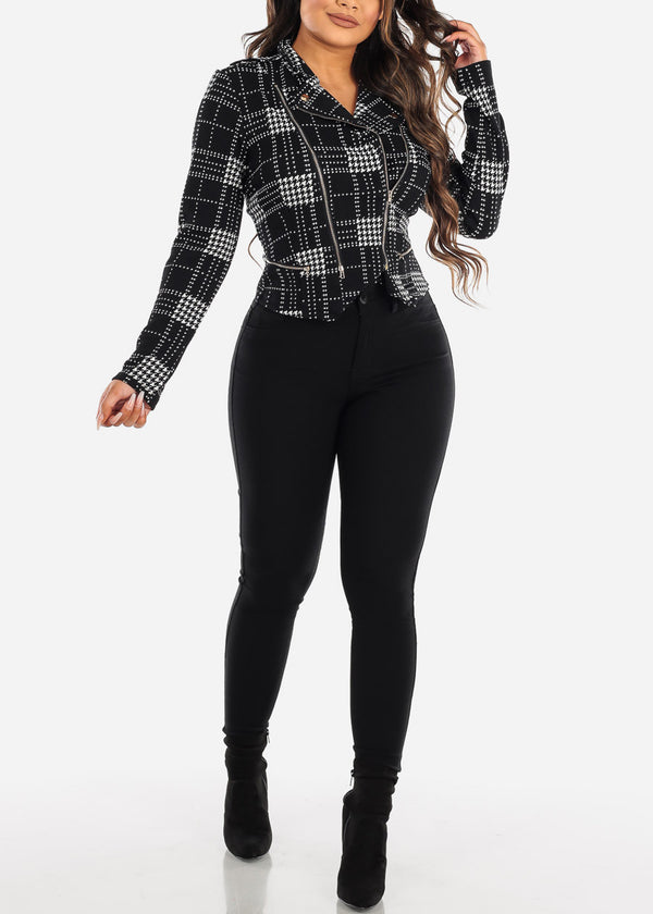 High Waisted Black Jegging Skinny Pants