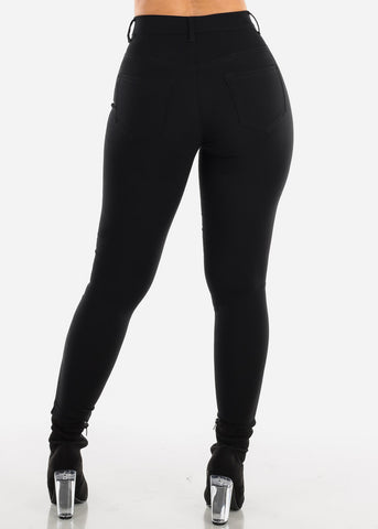 Image of High Waisted Black Jegging Skinny Pants