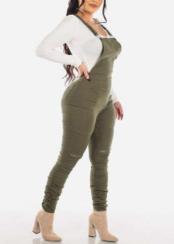 Image of Trendy Olive Moto Overall
