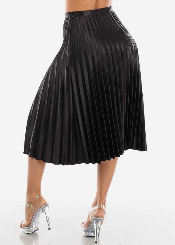 Pleated Black Skirt
