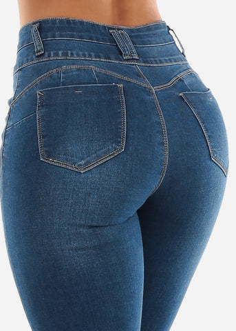 Image of High Rise Ripped Butt Lift Jeans