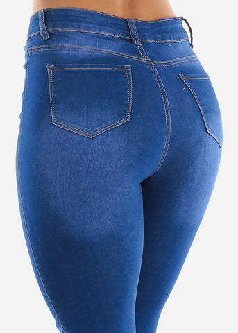 Image of Bottom Ripped High Waist Jeans