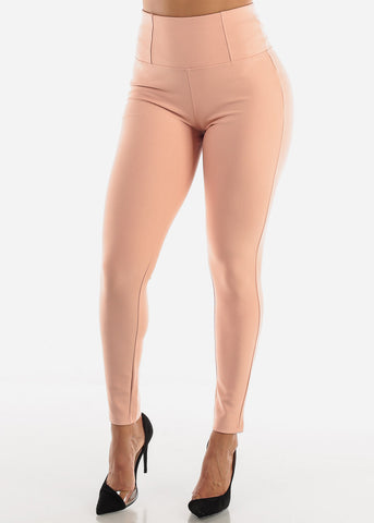 Image of Mauve Strechy Dress Pants
