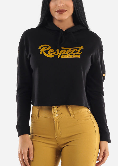 """Respect Yourself"" Black Hoodie"