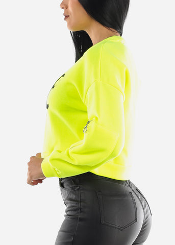 "Image of ""SAVAGE"" Neon Green Sweatshirt"